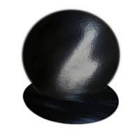 Подложка круглая черная/черная D30