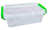 """Харчової контейнер із засувками 1,2 літра плоский """"Горизонт"""" + Відео"""