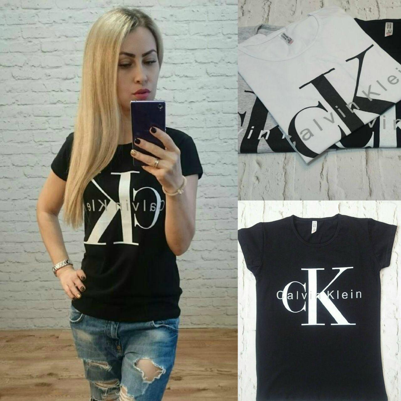 6104045011dc8 Женская футболка Calvin Klein Турция р. S,M,L оптом купить в Одессе ...