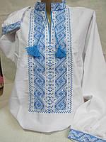 """Нарядная рубаха вышитая на домотканом полотне """"Богуслав"""", 44-56 р-ры, 420/390 (цена за 1 шт. + 30 гр.)"""