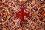 "Платок шерстяной с шерстяной бахромой ""Звонница"", 125х125 см, рис. 1158-6, фото 2"