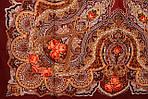 "Платок шерстяной с шерстяной бахромой ""Звонница"", 125х125 см, рис. 1158-6, фото 3"