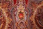 "Платок шерстяной с шерстяной бахромой ""Звонница"", 125х125 см, рис. 1158-6, фото 5"
