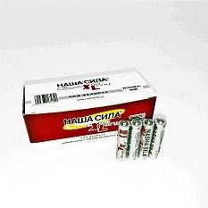 """Батарейки солевые """"Наша сила"""" оригинал АА пальчиковые, R 06, упаковка — 60 шт, фото 2"""