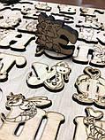 Украинская азбука-пазл, фанера, т. 8 мм, размер 30х32 см. TERMOIZOL®, фото 2