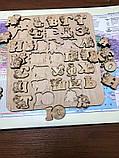 Украинская азбука-пазл, фанера, т. 8 мм, размер 30х32 см. TERMOIZOL®, фото 3