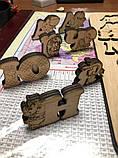 Украинская азбука-пазл, фанера, т. 8 мм, размер 30х32 см. TERMOIZOL®, фото 4