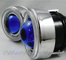 """Моно линзы ПТФ 1,8"""" под ксенон или галоген (синие стекла), фото 2"""