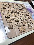 Украинская азбука-пазл, фанера, т. 8 мм, размер 30х32 см. TERMOIZOL®, фото 5
