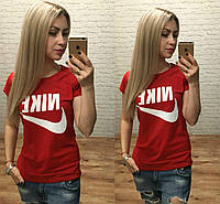 Женская футболка Nike красная Турция р. S,M,L оптом