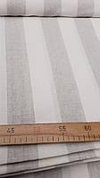 Льняная ткань для постельного белья в полоску (шир. 220 см), фото 1