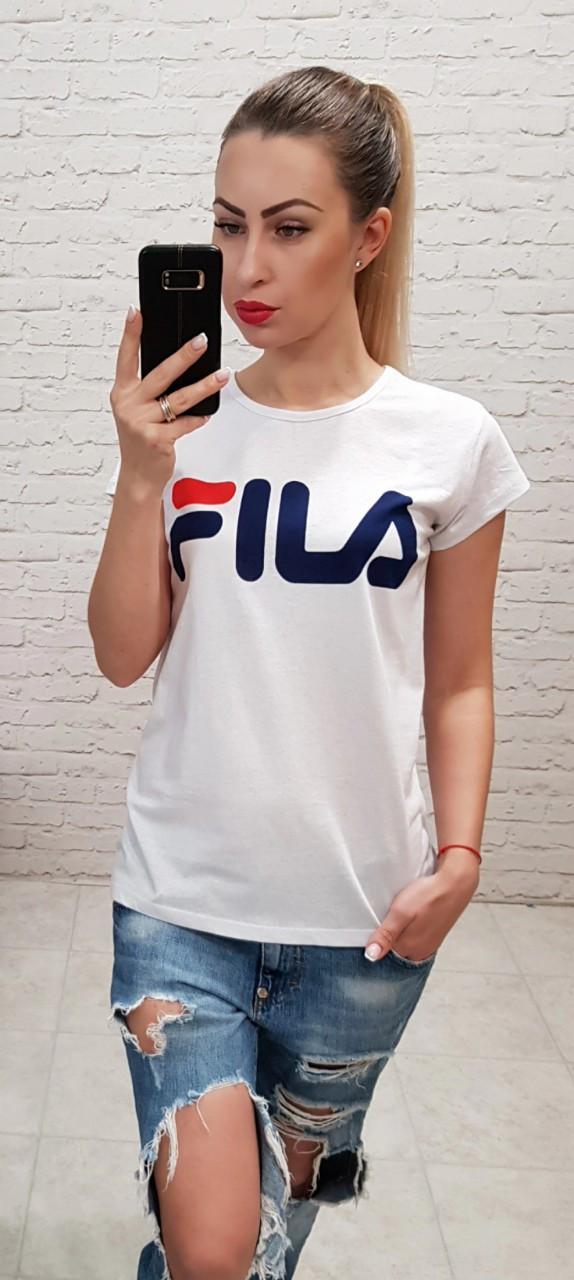 e5f09a979851bf9 Женская футболка Fila белая Турция р. S,M,L оптом купить в Одессе ...