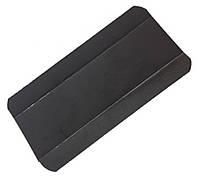Подложка прямоугольная под эклеры черная/черная 12х7см
