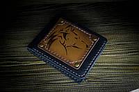 """Мужское портмоне ручной работы из натуральной кожи """"Волк"""""""