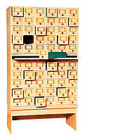 Шкаф картотечный на 60 ящиков 932х530х1706 мм