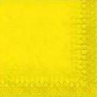 Салфетка однотонная желтая 33*33 50шт/уп
