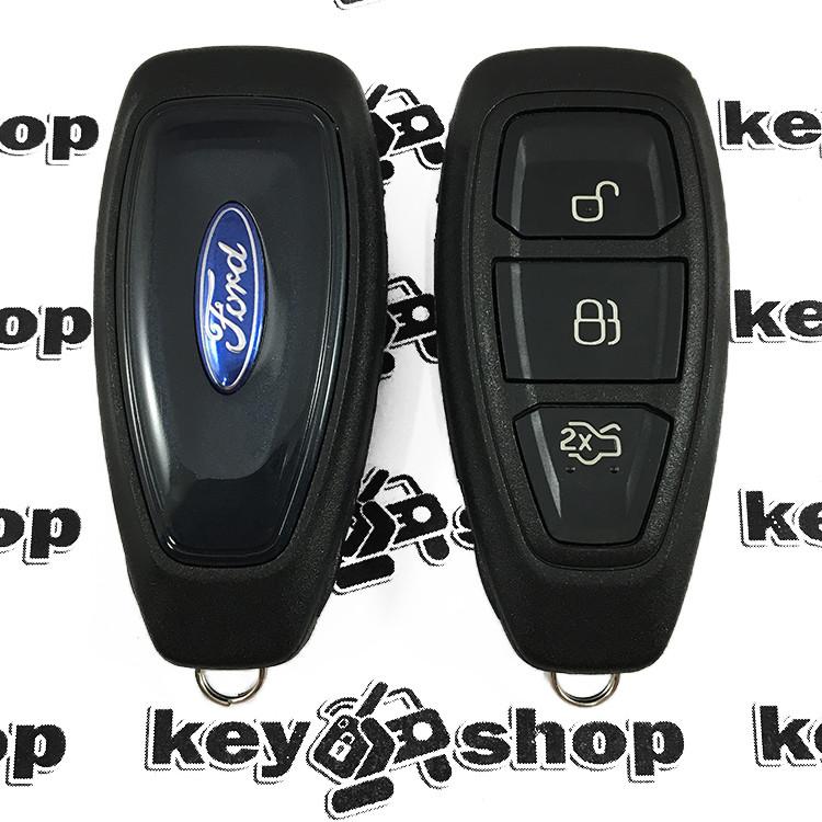 Корпус смарт ключа для FORD Fiesta, Focus, Kuga, Mondeo, C-Max (Форд), 3 кнопки, тип 2