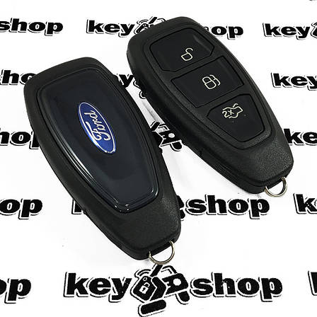Корпус смарт ключа для FORD Fiesta, Focus, Kuga, Mondeo, C-Max (Форд), 3 кнопки, тип 2, фото 2