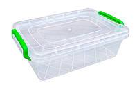 """Пищевой контейнер с защелками 2,2 литра плоский """"Горизонт"""" + Видео"""