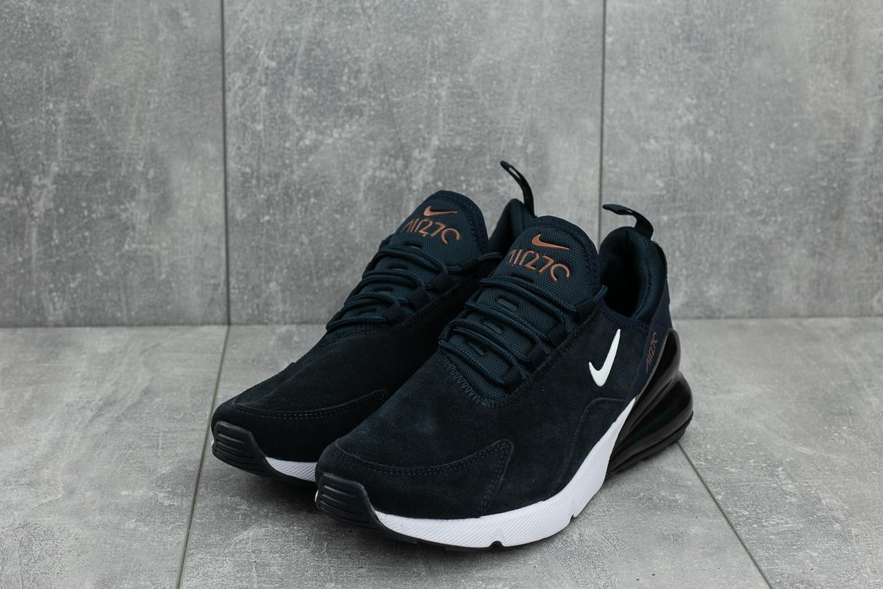 4745cf8d Мужские кроссовки Nike Air 270 стильные модные молодежные замша+текстиль+пена  (синие)
