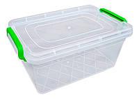 """Харчової контейнер із засувками 3,5 літра глибокий """"Горизонт"""" + Відео"""
