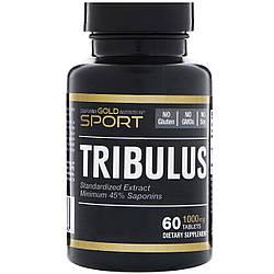 Tribulus California Gold Nutrition, Трибулус, Якорцы стелющиеся, 1000 мг, 60 таблеток