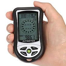 8 в 1 цифровой ЖК компас альтиметр барометр термометр GuDoQi часы календарь, фото 2