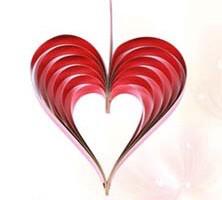 Серце 3 D 25 див., червоне декор до Дня Св. Валентина