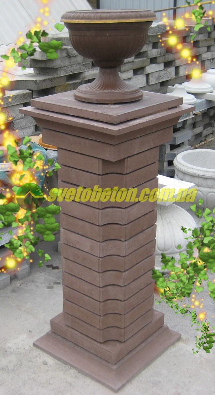 Ваза бетонная на подставке, декор для ландшафтного дизайна, садовая композиция для сада двора частного дома.