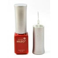 Гель краска Mileo красная с тонкой кисточкой для рисования,товары для женщин,женская косметика