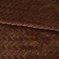 Мех искусственный косичка с просветами коричневый ш.165 (21245.005), фото 1