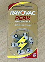Батарейки №10 Rayovac Peak Performance