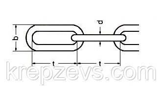 Длиннозвенная цепь Ф8 из стали А4 - чертеж