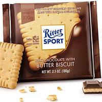 Ritter Sport Butter Biscuit (Молочный шоколад с печеньем) 100 г. Германия