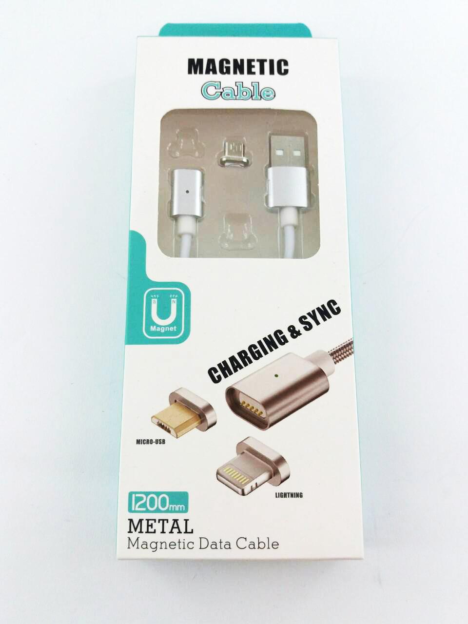 Магнитный кабель Magnetic Data Cable DM-M12 (разъем Micro USB) (н)