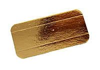 Подложка прямоугольная под эклеры золото/серебро 12х7см