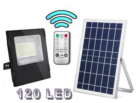Уличный прожектор на солнечной батарее  с пультом ДУ 30 Вт  120 LED
