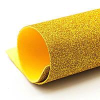 Фоамиран с глитером 50*50 золото