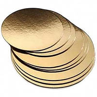 Подложка круглая зол/сереб D25