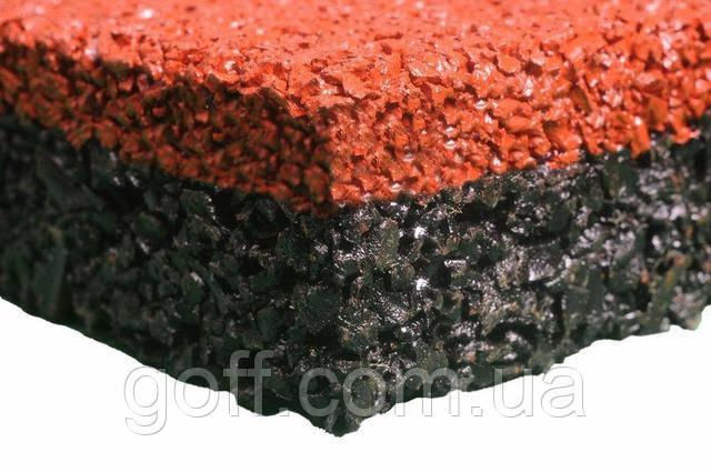 Плитка из резиновой крошки в разрезе