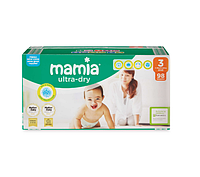 Подгузники Mamia Ultra-Dry Midi 3 (4-9 кг) Jumbo Pack 98 шт.