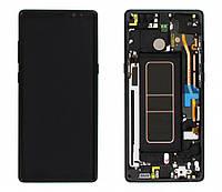Дисплей (LCD) Samsung GH97-21065A N950 Galaxy Note 8 с сенсором чёрный сервисный