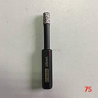 Алмазне свердло для сухого свердління з воском, д. 6,0х68,0 мм, хвостовик 8 мм