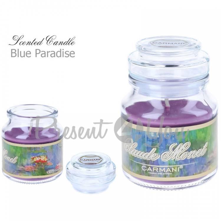 Свеча ароматизированная Клод Моне «Водяные лилии», blue paradise, Carmani, h-10 см