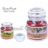 Свеча ароматизированная Клод Моне «Маковое поле», красные фрукты,Carmani, h-10 см