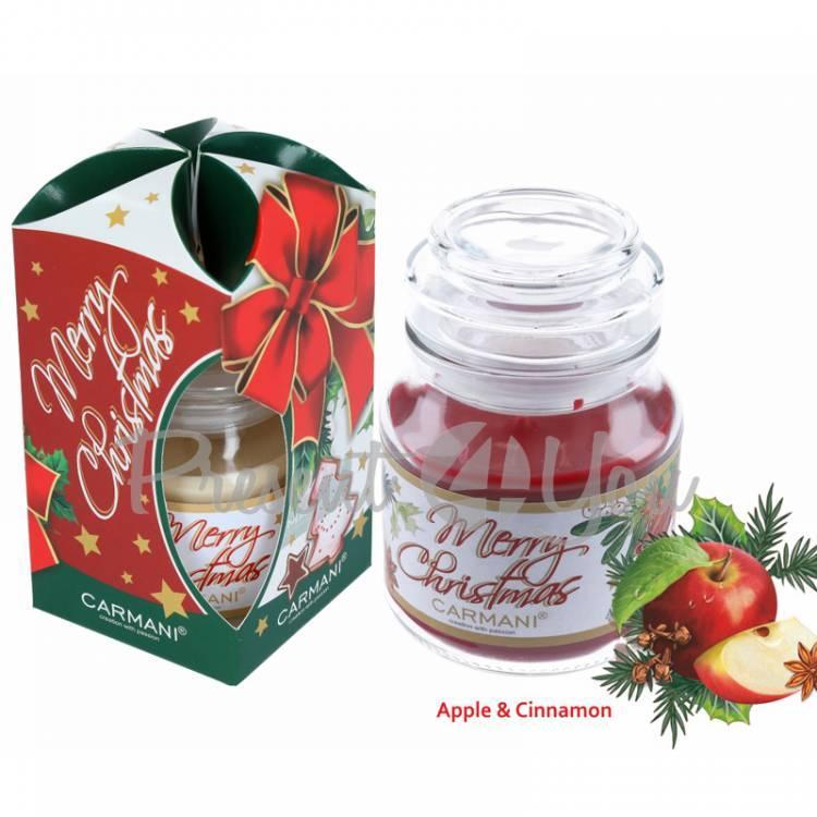 Свеча ароматизированная «Яблоко и корица», в подарочной упаковке, Carmani, h-10 см