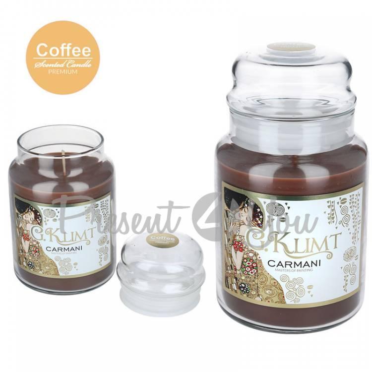 Свеча ароматизированная Г. Климт «Кофе» Carmani, h-17 см