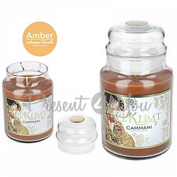 Свеча ароматизированная Г. Климт «Поцелуй», янтарь, Carmani, h-17 см