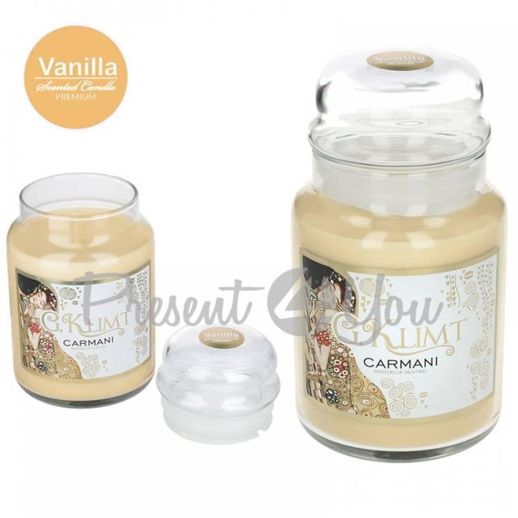 Свеча ароматизированная Г. Климт «Поцелуй»,ваниль, Carmani, h-17 см