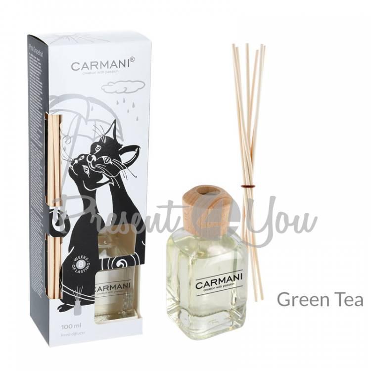 Аромадиффузор «Черно-белые коты», зеленый чай, Carmani, 100 мл